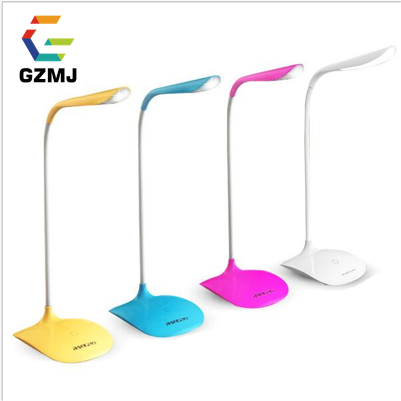 цена на GZMJ Dimmable Touch On/off Switch LED Table Lamp Children Eye Protection Student Study Reading Foldable Rechargeable Night Light