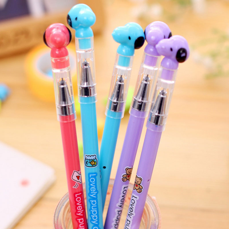 3 pcs/lot Lovely dog gel pen cute pens material escolar kawaii stationery canetas escolar school office supplies Free shipping