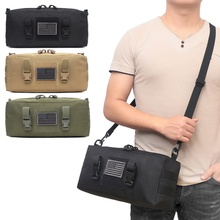 Outdoor Tactical Durable Molle Pouch Utility Gadget Belt Hunting Bag 6000D Military Waterproof Camping Hiking Bags 600d military tactical molle unisex clay dragon tactical belt durable canvas hunting material outdoor utility accessories