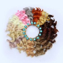 8PCS/LOT New  Curly Doll Hair Wig DIY 15CM Synthetic Fiber BJD Hair For Wig цены онлайн