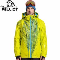 Pelliot Brand men's ski jacket witnter thermal warmth snowboarding jacket breathable plus size sports jacket for camping snowing