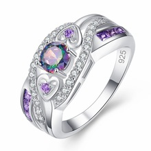 Romantic Fashion Rings Elegant Temperament Jewelry Womens Girls White Silver Filled Wedding Engagement Accessories Gift