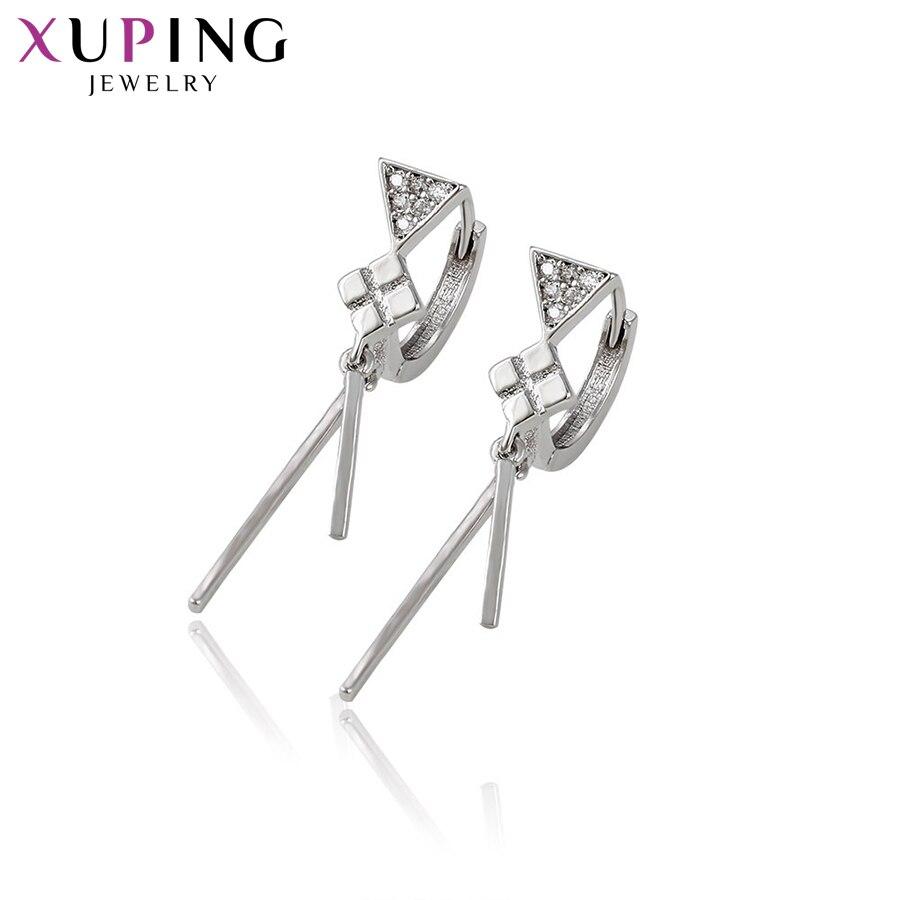 11,11 сделок Xuping модные элегантные серьги с синтетических CZ Горячая Салль для Для женщин Рождество подарок S52, 1-92844