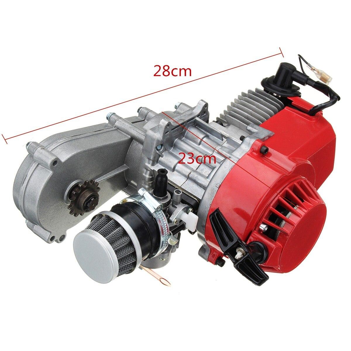 49cc 2 нажимом запуска двигателя 25 ч ведущее колесо мотора передачи воздушный фильтр для мини карманный мини Quad Dirt Bike ATV 4 колеса