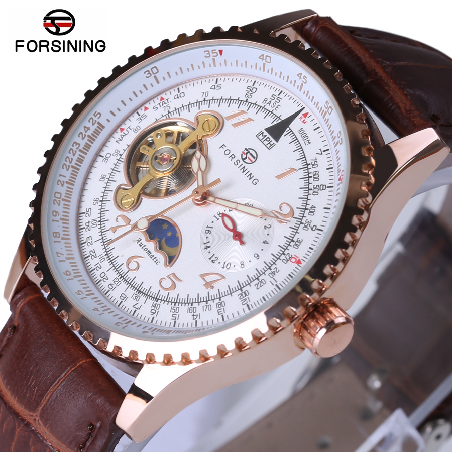 2018 New Forsining Men Watch Tourbillon Clock Mens Watches Top Brand luxury Automatic Wristwatch Mechanical Relogio Male forsining date month display rose golden case mens watches top brand luxury automatic watch clock men casual fashion clock watch