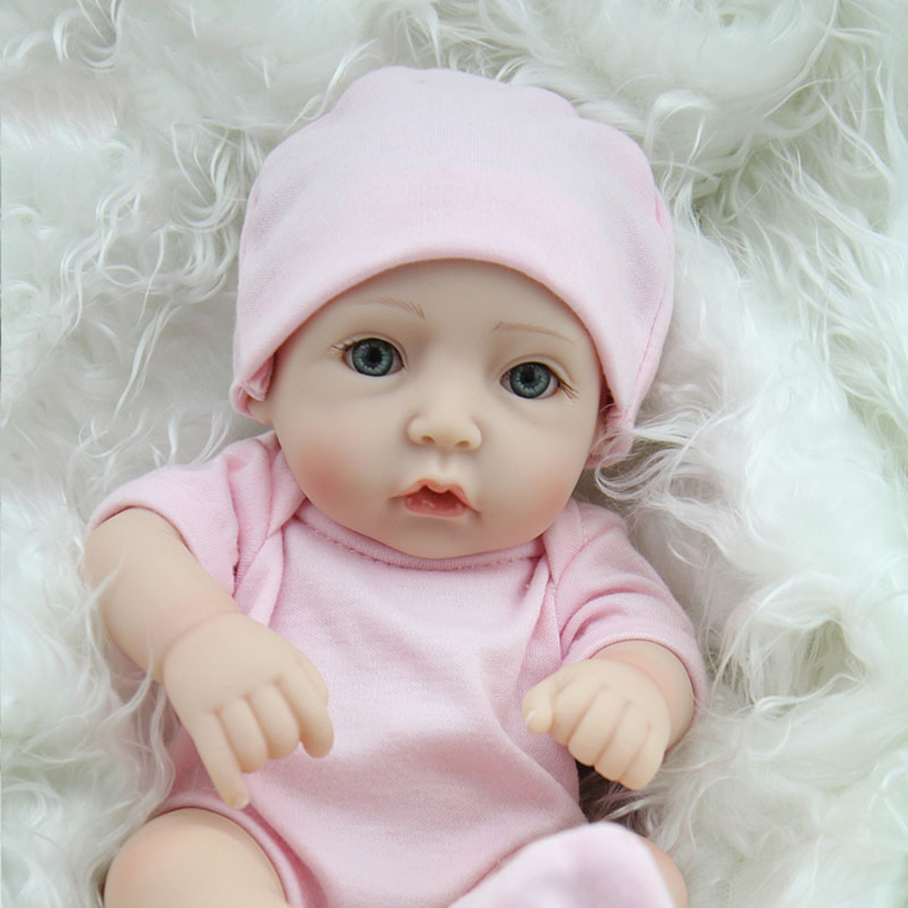 "Realistic Reborn Baby Dolls Newborn Babies Vinyl Silicone Girl Doll Handmade 11/"""
