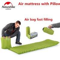 Merk Ultralight Outdoor Air Matras Vochtwerende Opblaasbare pad Air Mat Met kussen Camping Bed Tent Camping Mat Slaapmat