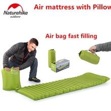 Naturehike Ultralight Outdoor Air Mattress Moistureproof Inflatable pad Air Mat With pillow Camping Bed Camping Mat Sleeping Pad