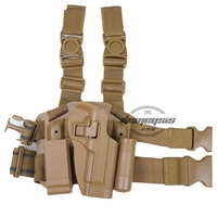 Tactical Military Right Leg Paddle Belt Thigh Hand Drop Holster For Beretta M9 M92