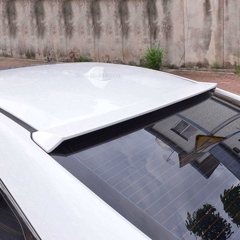AITWATT Fit pour Honda Civic 10th 2016 2017 2018 2019 coffre arrière aile de coffre lèvre arrière fibre de carbone toit Spoiler voiture noir Spoiler