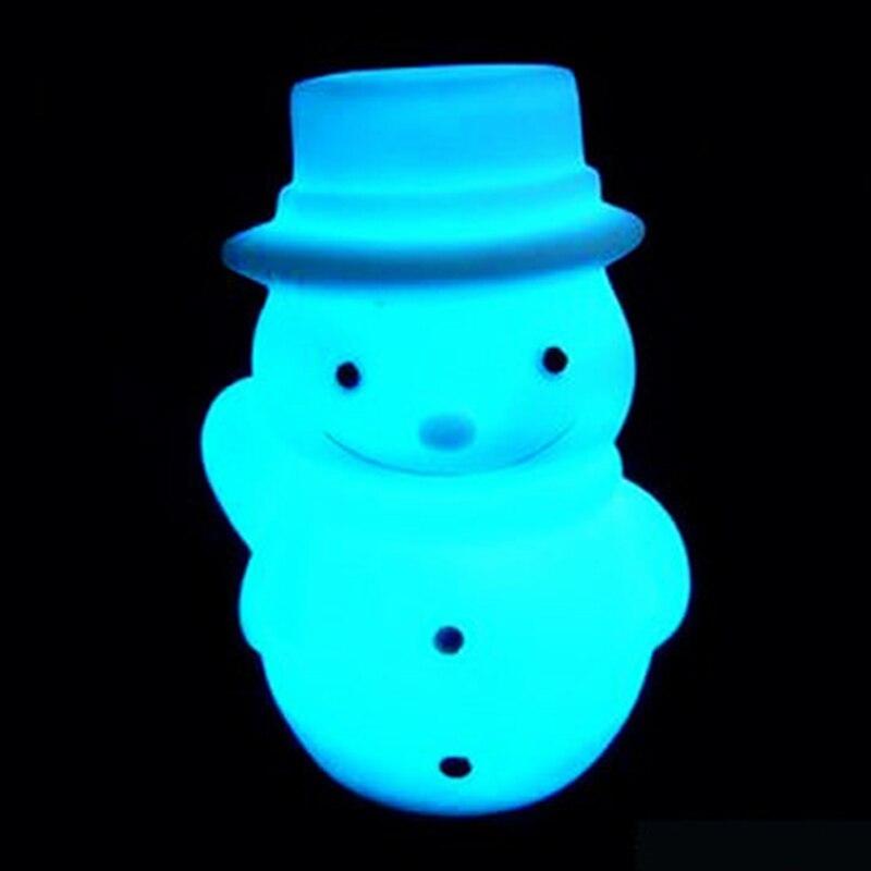 Led Lamps Obliging Snowman Lamp 3d Decor Vision Desk Lampara Led Plastic Mini Size 7 Colors Changing Baby Sleeping Night Light Toys Elegant Shape