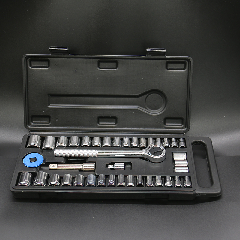 40pcs Socket Wrench Set Ratchet Wrench Kit Nuts Driver Hex Socket Adapter Set Sleeve Spanner Auto Car Repair Hand Tools