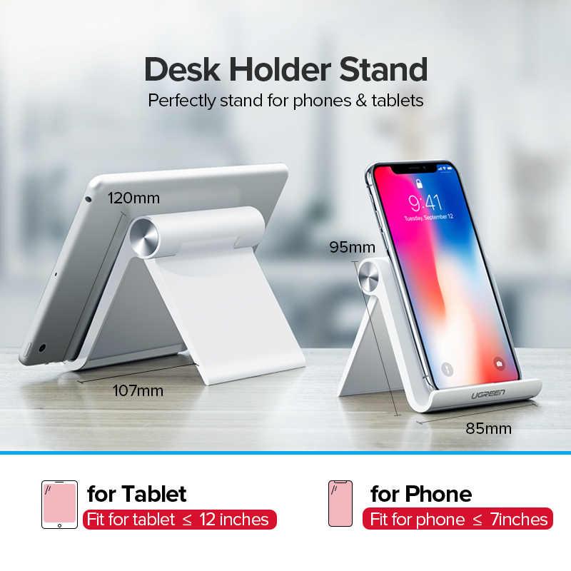 Ugreen טלפון מחזיק מעמד נייד Smartphone תמיכת Tablet Stand עבור iPhone שולחן Stand מחזיק טלפון נייד מחזיק נייד