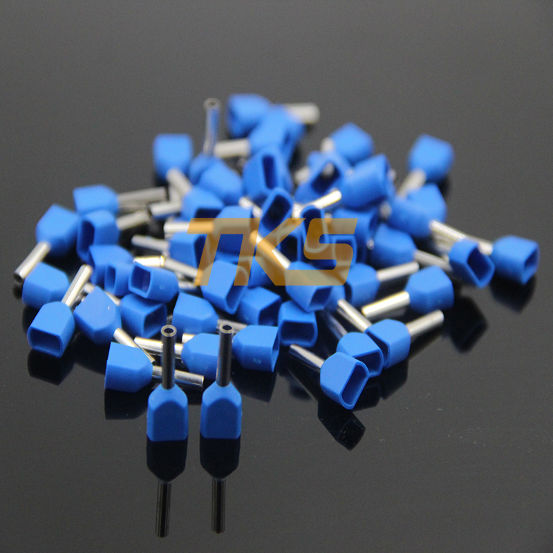 100-Pack Morris 10242 Non-Insulated Double Crimp Male Disconnect .032 x .250 Tab 22-16 Wire Range