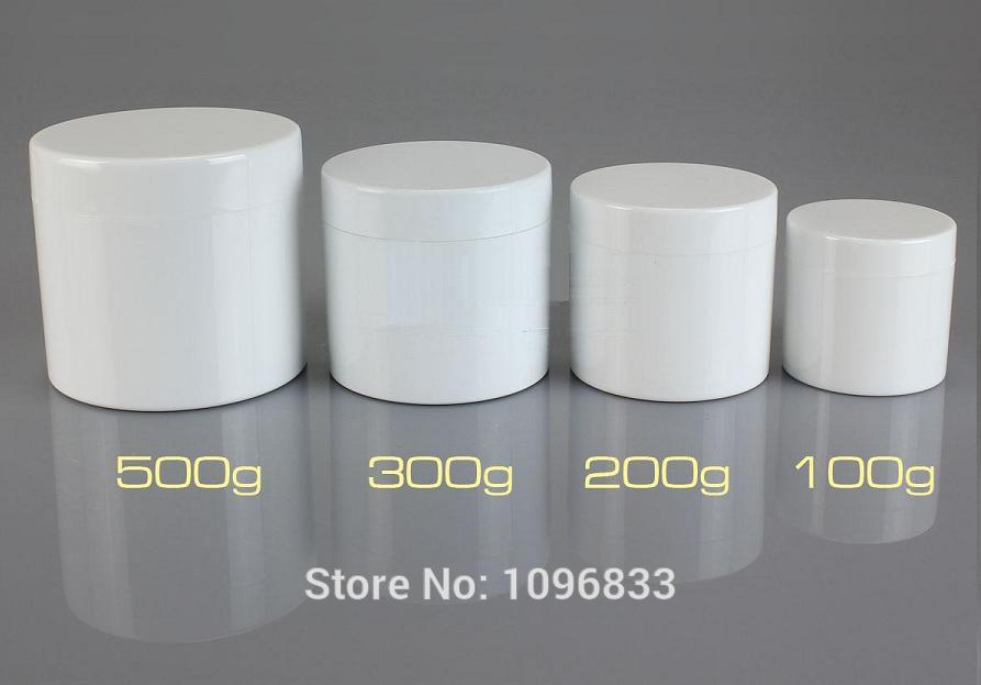 300g Container White Jar 300ML Cosmetic Jars Plastic Box Double Layer Bottle Cream Jar Plastic Packing