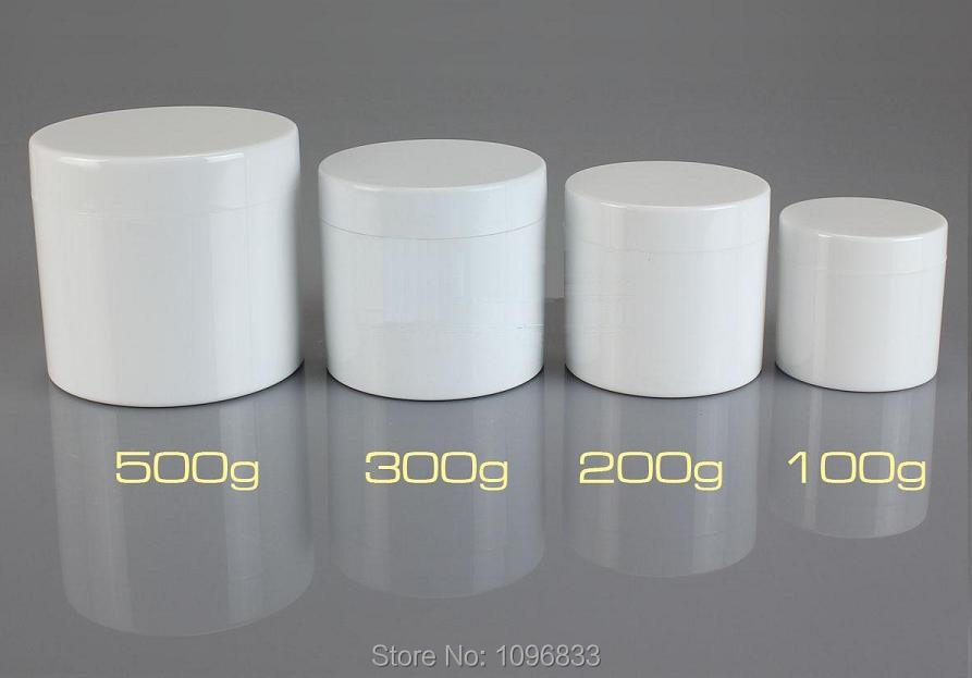 300g Container, White Jar, 300ML Cosmetic Jars, Plastic Box, Double Layer Bottle. Cream Jar, Plastic Packing Container,10pcs/Lot alcohol and liquid container bottle white 180ml