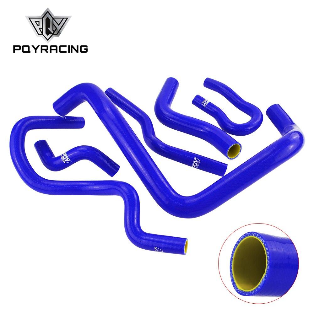Blue & Yellow Silicone Radiator Hose Kit For CIVIC SOHC D15 D16 EG EK 92-00 6pcs With PQY Logo PQY-LX1303C-QY