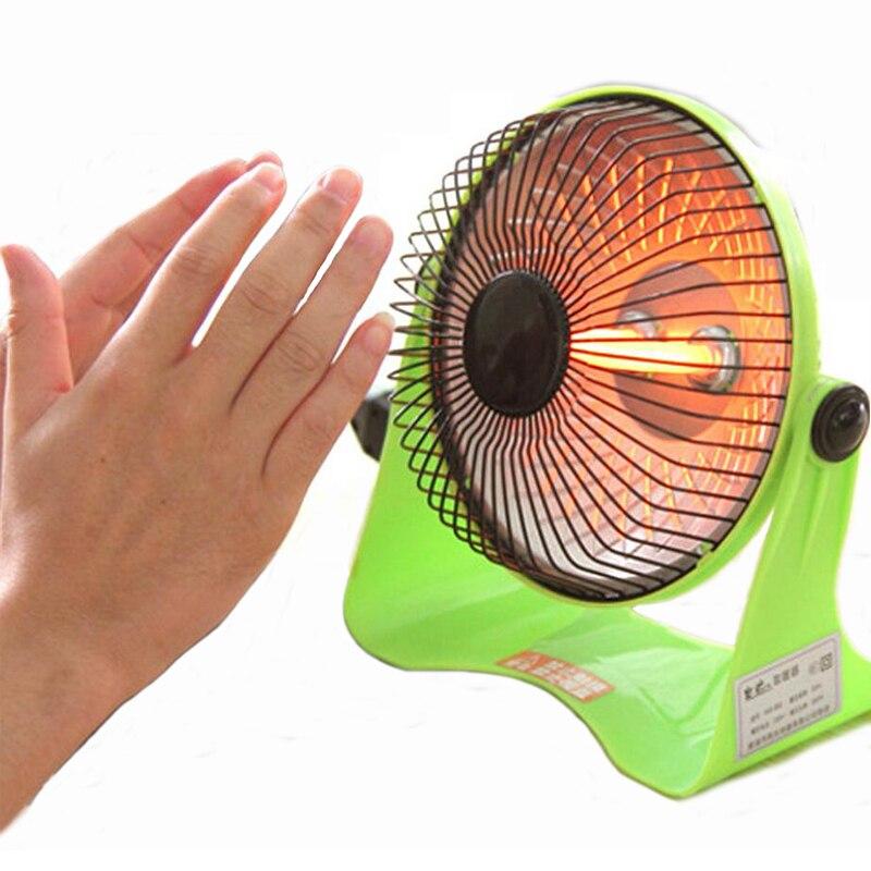 Electric Heaters Students office Home Desktop heater Mini quartz <font><b>tube</b></font> type small solar heater stove electric fan