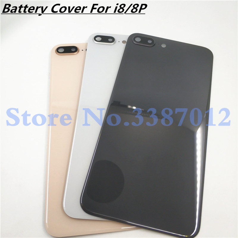 For Apple IPhone 8 Plus Back Battery Glass Cover Rear Door Housing Case For IPhone 8 Back Glass Panel With Camera Frame Lens