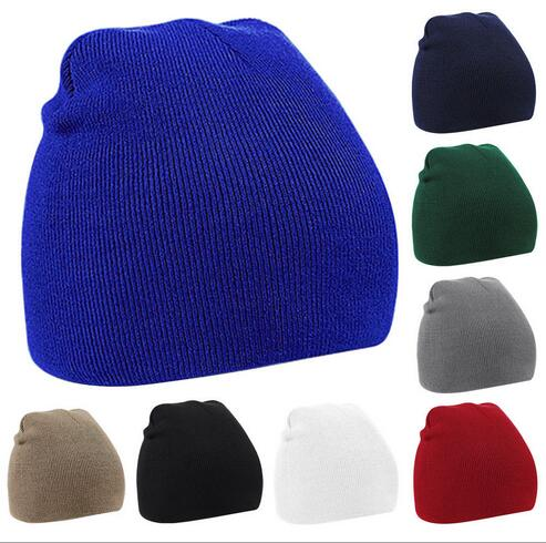 Wholesale Knitted Hat  Beanie Cap Winter Warm Wooly Hat Unisex Mens Beanie Ladies Ski Skull Cap Gorras Planas Free Shipping
