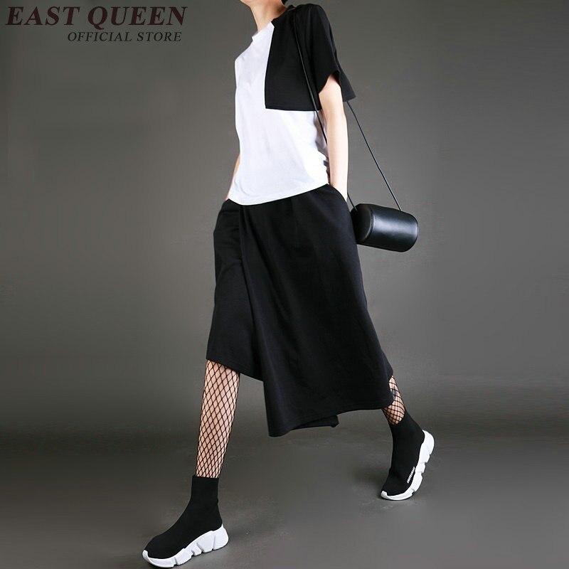 Culotttes Baggy Pantalones Pantalón Palazzo 1 Ancho Señoras Mujer Femme Elegantes Aa2743 Floja Asymmertric 5qAUwTZn