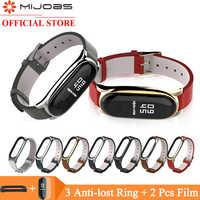 Mi jobs Correa de cuero PU para Xiaomi mi Band 4 3 pulsera de Correa mi band 3 pulsera reloj inteligente Correa mi Band 4 accesorios