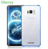 Uberay Original Case For Samsung S8 S8Plus Plating Edge High Quality Plastic Transparent Back Cover Cell