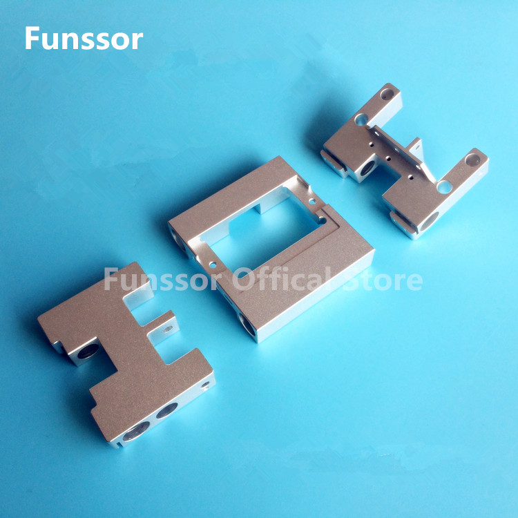 Funssor MK10 Aluminum X axis metal Extruder Carriage LM8UU  Y axis carriage kit For MK2  CTC  Flashforge Upgrade