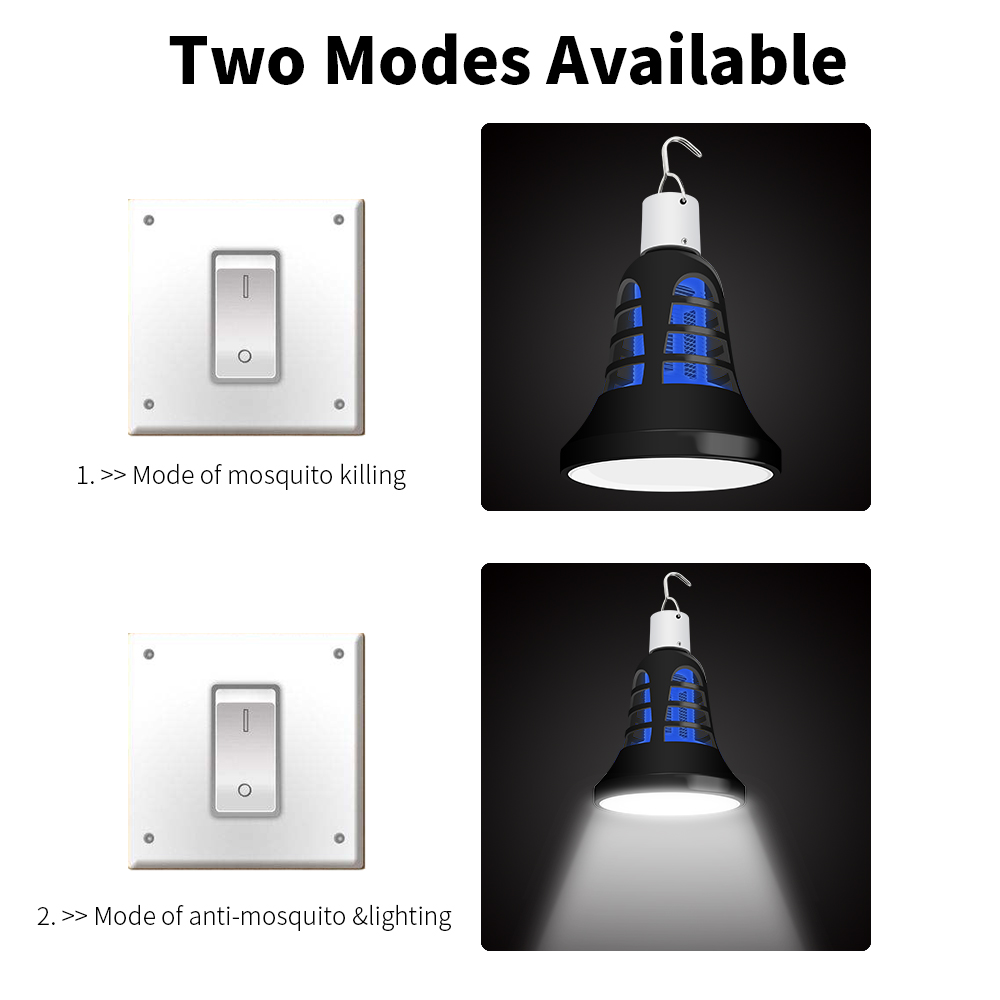 Mata Mosquito Electrico LED Bulb E27 220V LED Bug Killer Lamp 8W USB Moskitos Killer Trap Light Outdoor 5V Anti Insect Lamp 110V in Mosquito Killer Lamps from Lights Lighting