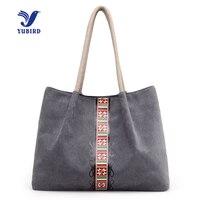 YUBIRD Brand Canvas Women Casual Tote Shoulder Bag Female Handbag Fresh Fabric Cloth Vintage Shopping Tote