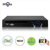 16CH AHD DVR 1080N CCTV Регистраторы Камера сети Onvif 16 канала IP NVR 1080 P аудио Вход Многоязычная сигнал тревоги 2HDD Hiseeu