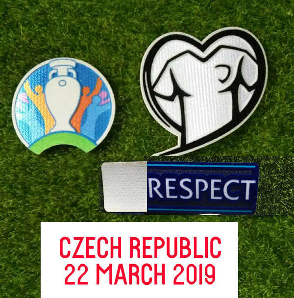 Engeland Wedstrijd Details Engaldn Vs Tsjechische 2020 Eur Qualifier Patch En Respect Badge Voetbal Patch Warmteoverdracht Badge