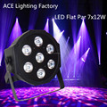 Free&Fast shipping hot new flat led par 7x12w rgbw quad stage wash light