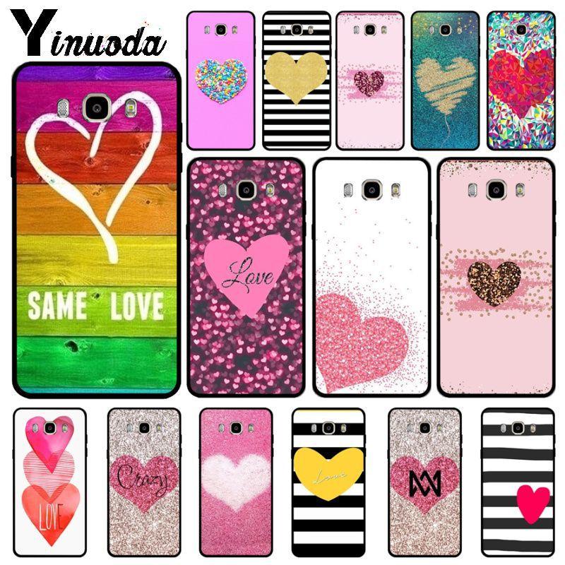 Yinuoda heart shape Cute Heart Point TPU Soft Silicone Phone Case Cover For Samsung j6plus j7 prime j8 j2prime j4plus 2018 cases