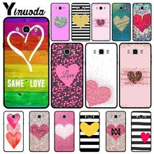 Yinuoda heart shape Cute Heart Point TPU Soft Silicone Phone Case Cover For Samsung j6plus j7 prime j8 j2prime j4plus 2018 cases