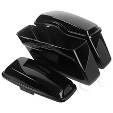 Motorcycle Glossy Hard Saddlebags Saddle Bags For Harley Touring Road King Electra Glide 14-19
