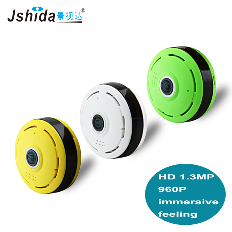 Jshida professional wireless wifi ip camera 360 degree Panoramic 3D VR camera Home Security IR Night Vision Wide angle fisheye high quality 5pcs dual usb type a female 8 pin socket connector diy