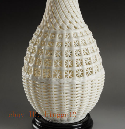 Graži kinų derliaus rankų darbo balta porcelianinė - Namų dekoras - Nuotrauka 5