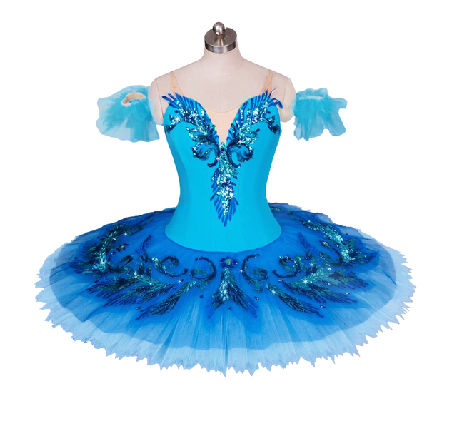 Blue Swan Lake Ballet Costume Adult Child Professional Tutu Competition Dress Pancake Ballerine Dress For Girls Skating Costumes