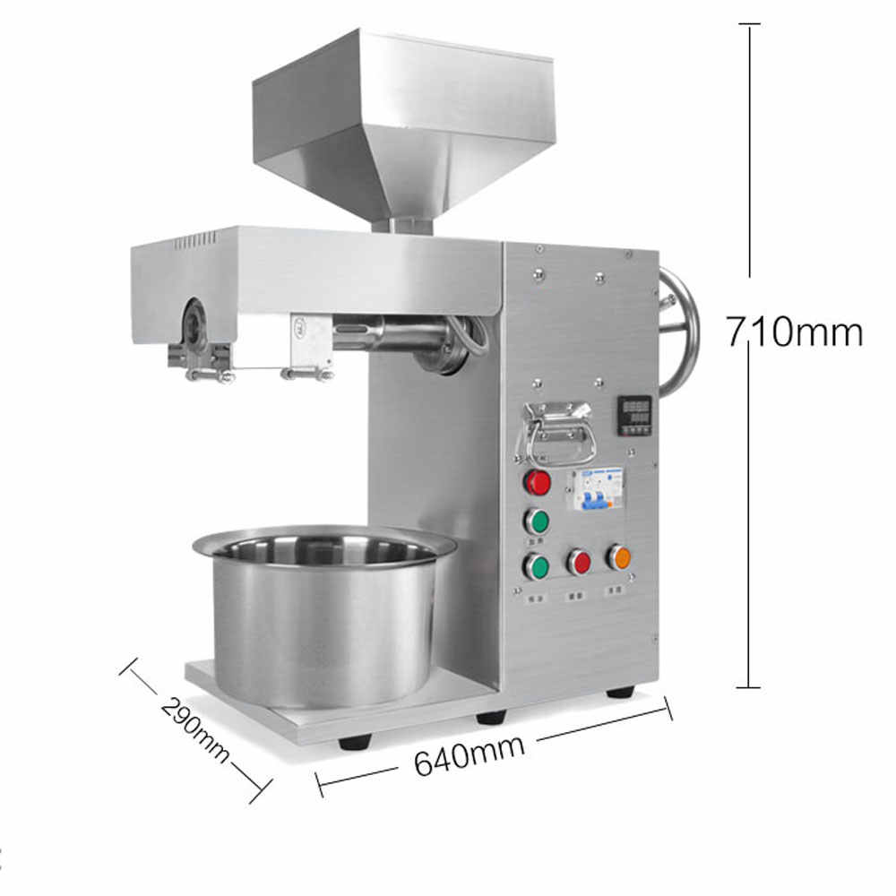 Commercial oil extractor Automatic Oil Press Machine cold&heat coconut soybean almond pressed stainless steel Factory outlet