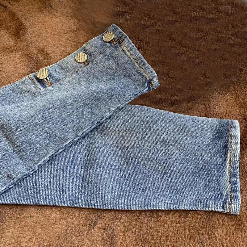 Bouton Qualité Jeans Moulant Denim Femmes Jean Pantalon De Pour As Supérieure Décontracté Solide Marque Pics 2019 Blanc Rv08wq0