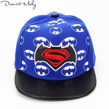 Moda Superman Batman gorra de béisbol SnapBack sombrero para Boy SnapBack gorras  hip hop sombrero gorra 2436e9fe5a4