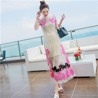 Women dress Lace Embroidery Very Little Aristocratic Wind Dresses Other Colors 9562