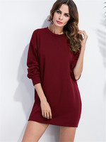 Europe And The New Winter Velvet Thickened Fashion Loose Lantern Sleeve Casual Dress JRN3223