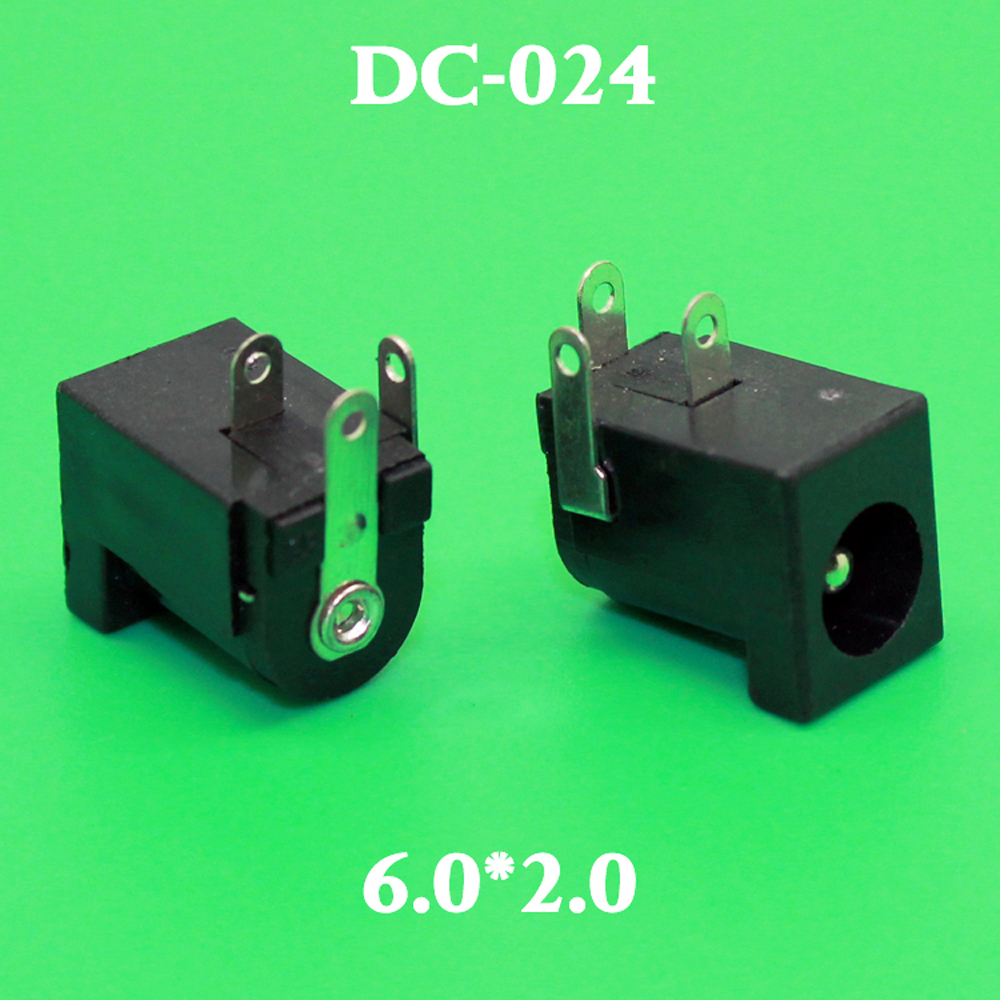 10pcs DC Power Jack Socket Connector DC005 6.0*2.0 5.5*2.1mm <font><b>2.1</b></font> <font><b>2.5</b></font> mm pin socket Round the needle image