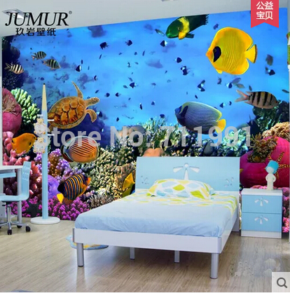 Custom large murals of children room environmental protection Marine 3 d wallpaper TV sitting room background wall paper