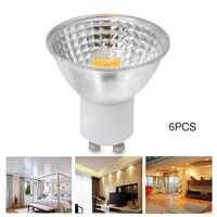 YWXLight haute puissance 6 pièces 5 W GU10 lumière tasse MR16 GU5.3 COB tasse à lumière LED Lampada LED ampoule 110 V 220 V LED lampe de projecteur