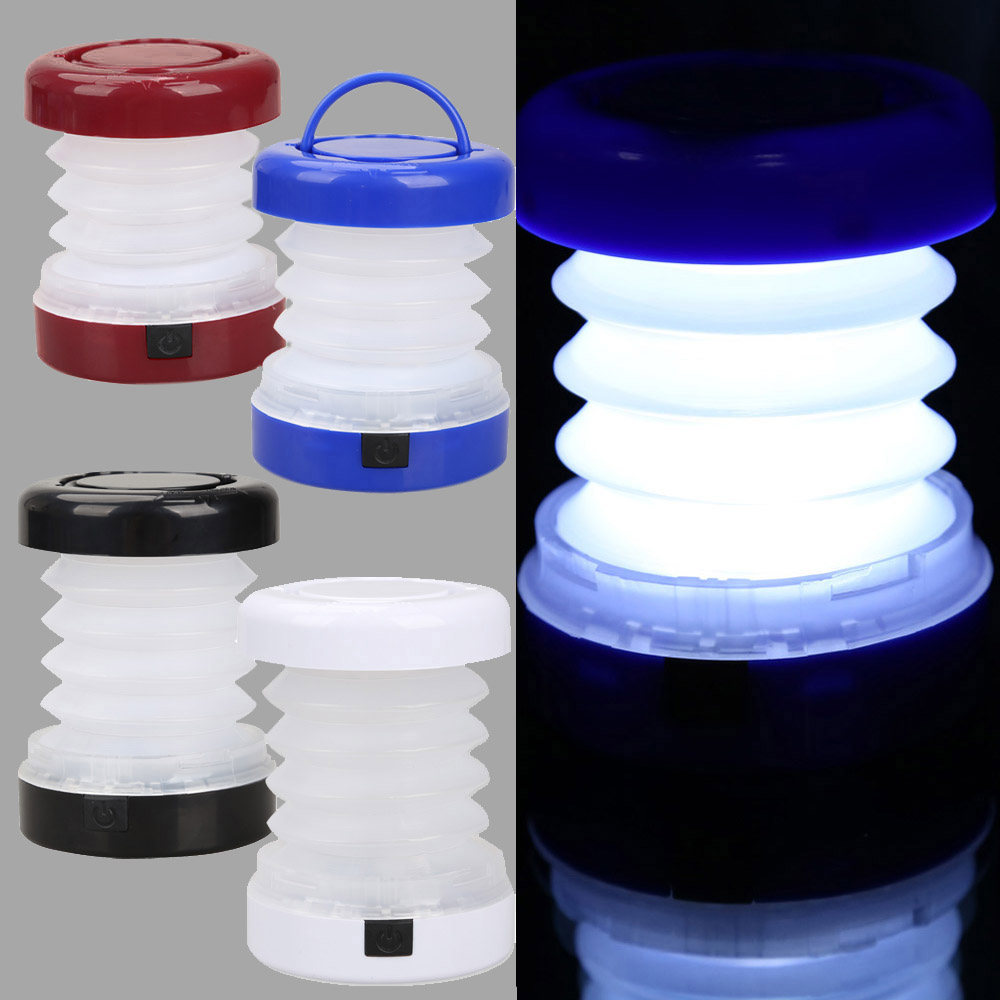 5 LED Водонепроницаемый Портативный масштабируемой мини палатка свет открытый кемпинга Фонари лампы черный/синий/красный/белый Цвета фонари...