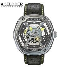 Swiss AGELOCER men brand 316L steel men s mechanical watch Avator Noob Factory W