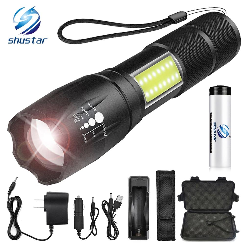 10000 Lm X-XM-L2 LED Tactical Torch Focus Lamp Pocket Clip Cycling Nightlight TR